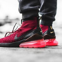"""Nike Air Footscape Magista Flyknit 270 """"Wine Red"""" Socks Running Shoes AA6560-600"""