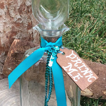 Alice in Wonderland Tea Party Birthday Decorations Prop Decor Giant Drink Me Bottle Decanter Mad Hatter Wedding Onederland Turquoise
