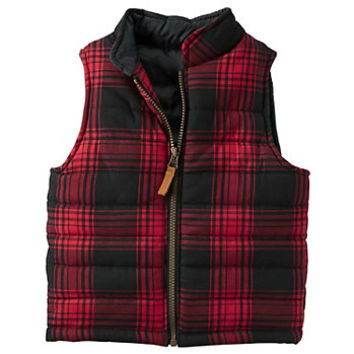 Toddler Boy Carter's Red Buffalo Plaid Vest
