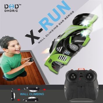 High Quality Wall Climbing RC Car C1 X-Run Controle Remoto Racing Car RC Electric Toys children rc toys best gift 3 color choose