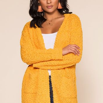 Cozy Beginnings Cardigan - Yellow