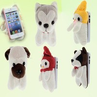 Cute 3D Doll Plush Toy Protector Hard Case Cover Skin for iphone 5 5G 5th HS