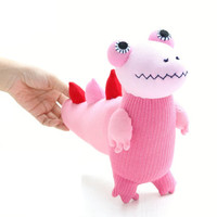 Handmade  little  pink  Crocodile  stuffed animal baby Home Decor toys soft dolls