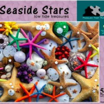 Seaside Stars, Low Tide Treasures 550 Piece Puzzle, Made in the USA