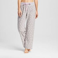 Laura Ashley® Women's Corduroy Fleece Pajama Pant - Coin Dot
