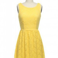 The Zooey Dress in Yellow