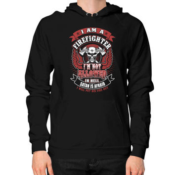 IM A FIREFIGHTER IN HELL Hoodie (on man)
