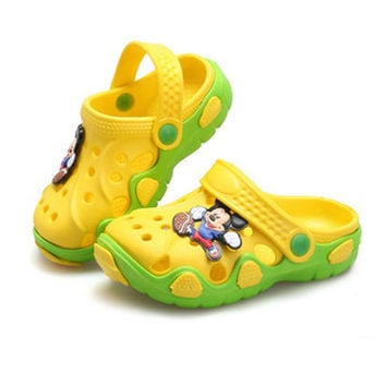Summer Girls Boys Beach Sandals Kids Children Shoes For Girls Boys Non-Slip Sandals Infant Kids Children Shoes Wholeas MBF2