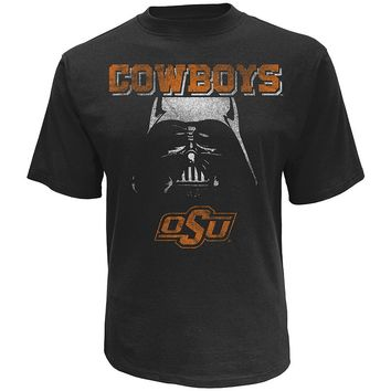 Star Wars College Oklahoma State Cowboys Darth Vader Helmet Tee