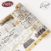 2-8cm*8m Vintage old newspaper washi tape DIY decorative scrapbooking planner masking adhesive tape label sticker stationery