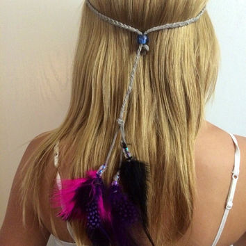Rainbow, bright, vivid, colorful, feather, feathers, feather headband, Feather hair comb, bridal hair comb, feather extension, feather clip,