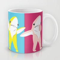 Left Shark Pop Art Mug by Brittany Metz