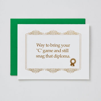 Bring Your 'C' Game Graduation Card