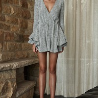 BONNIE FRILL CUFF DRAWSTRING MINI DRESS