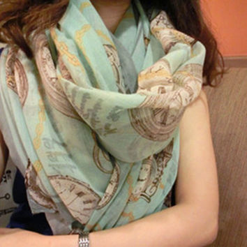 New Printed Pattern Scarves Spring Summer Beach Shawl Cotton and Bali Yarn Apparel Accessories Infinity Scarf #225957