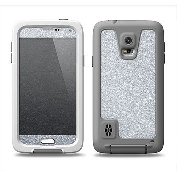 The Silver Sparkly Glitter Ultra Metallic Samsung Galaxy S5 LifeProof Fre Case Skin Set