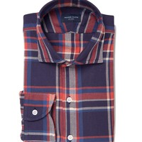 Japanese Vintage Navy and Red Plaid