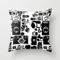 Cameras Throw Pillow by Ewan Arnolda | Society6