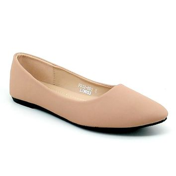 Women's Nude Pointed Flats