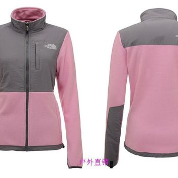 THE North Face New winter women PINK plus velvet jacket to keep warm