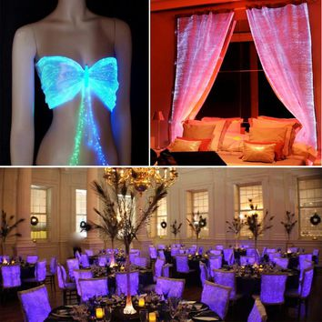decorative plastic fiber optic light costume cloth