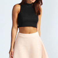 Eliza Ribbed Skater Skirt