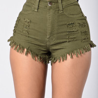 Hard Summer Shorts - Olive