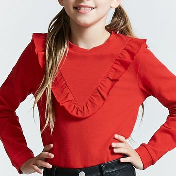 Girls Ruffled Top (Kids)