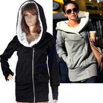 Fast Shipping Plus Size New 2015 Spring Autumn Women Sweatshirt Fashion Sport Suit Pullover Hoody Fleece Warm Girls Hoodies Winter Clothing = 1931621252
