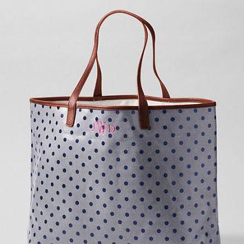 Women's Print Coated Canvas Large Shopper from Lands' End