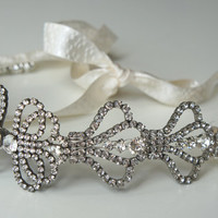 Great Gatsby Deco Rhinestone Bridal Headband