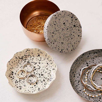 Splattered Enamel Table-Top Organizer Set | Urban Outfitters