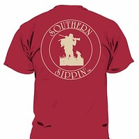 Southern Sippin Duck Hunter Lighthouse Pigment Dyed Unisex Pocket T-Shirt