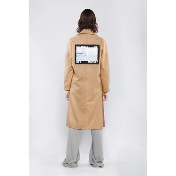 ICEBERG WOOL COAT IN CAMEL