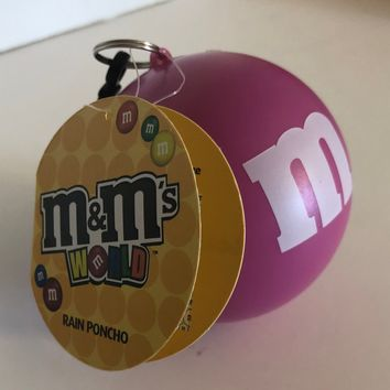 M&M's Pink Character Rain Poncho Ball One Size New with Tags