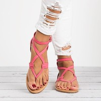Plus Size Gladiator Sandals For Women Summer Shoes