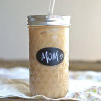 Mason Jar Tumbler Gift - Personalized Mason Jar Tumbler - Iced Coffee For Mom