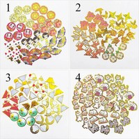 40pcs Creative Japanese Doll Sushi Shiba Inu Gold Foil Stickers Scrapbooking Decorative Adhesive Stickers For School Supplies