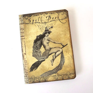 Mini Spell Book, Witch Journal Notebook, Halloween Journal, Pocket Moleskine, Wicca Spell Book, Witch Pocketbook, Pagan, Halloween Spellbook