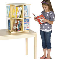 Guidecraft Rotating Book Display 2 Tier - G6317