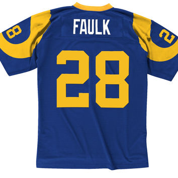 Mitchell & Ness Marshall Faulk 1999 Replica Jersey St. Louis Rams In Blue