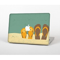 "The Vintage His & Her Flip Flops Beach Scene Skin Set for the Apple MacBook Pro 15"" with Retina Display"