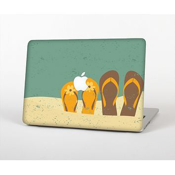 The Vintage His & Her Flip Flops Beach Scene Skin for the Apple MacBook Air 13""