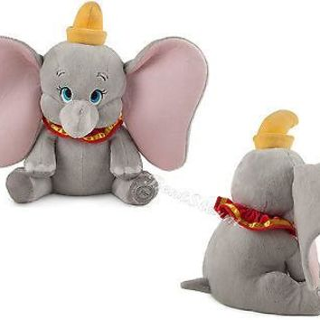 "Licensed cool 14"" DUMBO BABY CIRCUS ELEPHANT with BIG EARS Plush stuffed Animal Disney Store"
