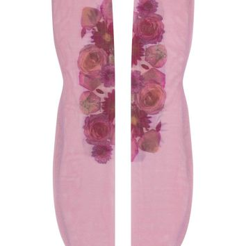 Printed Nylon Tulle Socks - Butterfly Rose or Flora Mirage