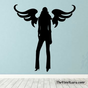 Sexy Angel Pin-Up Girl Wall Decal XI