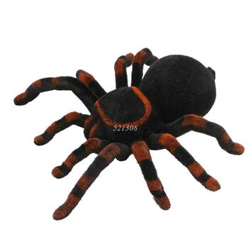 Remote Control Soft Scary Plush Creepy Spider Infrared RC Tarantula Kid Gift Toy MAY16_35