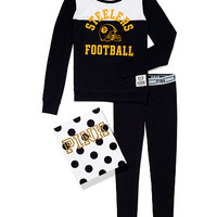 Pittsburgh Steelers Crew and Logo Waist Leggings Gift Set - PINK - Victoria's Secret