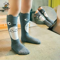 Girls Socks cotton Knee High Long
