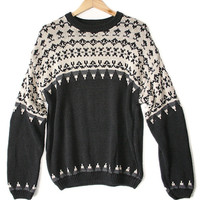 Black and Tan Men's Ski Sweater - The Ugly Sweater Shop